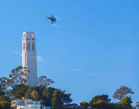Blue Angel Coit Tower