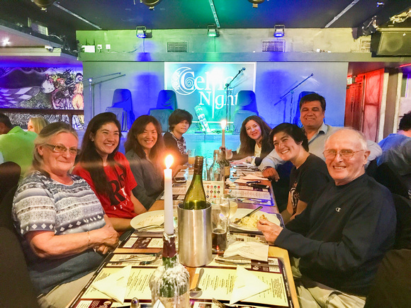 Our VERY fun table of friends at Celtic Nights in Dublin, Ireland