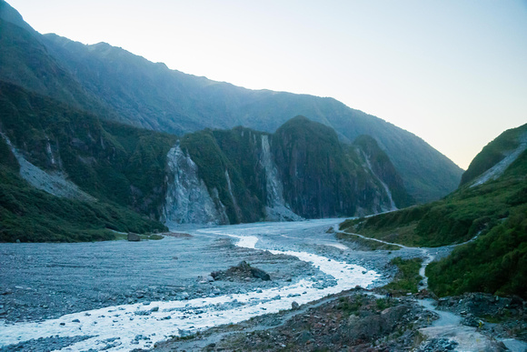 Looking out from Fox Glacier.