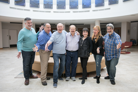 The gang's all here, the Broadway & Musical Legends: Iris Dart, Mike Stoller and Artie Butler with The Guggenheims