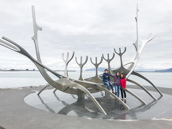 Reykjavik, Iceland Viking Boat Scupture